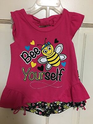 Toddler Girls Outfit Girls Short Set Childrens Clothing Kids Bumble Bee