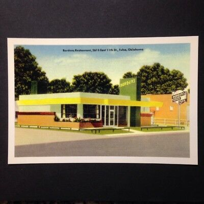 Tulsa Oklahoma Bordens Restaurant On Route 66 Postcard