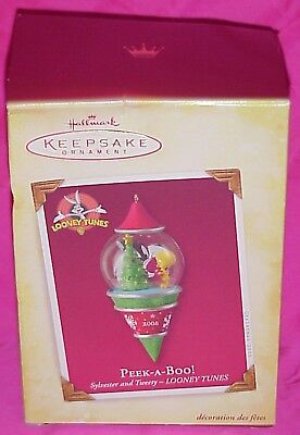 Hallmark 2005 Looney Tunes Tweety Sylvester Peek A Boo Christmas Ornament