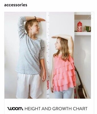 NEW Woom Bikes Height And Growth Wall Chart Adhesive