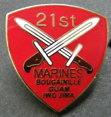 Us Marine Corps 21St Marines Regiment Lapel Pin Badge 1 Inch Usmc