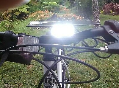 Solar powered 2x Cree  LED 5000LM Bicycle Headlight Light + Battery+ Charger