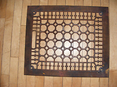 Antique Floor or  Wall 12 x 14 Furnace Cast Iron Air Register Heat Grate