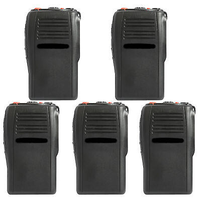 5x Black Replacement Case Front Cover Housing for Motorola GP344 Portable Radio