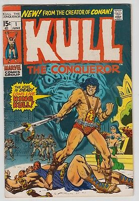 Kull the Conqueror #1, WALLY WOOD, ROSS ANDRU, Marvel 1971 Good Plus  r