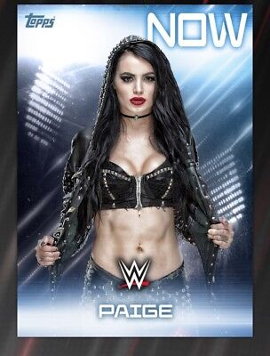 Topps WWE Slam Digital card Paige Then And Now Award 2018