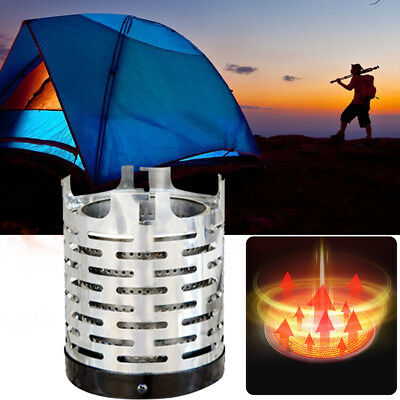 Stainless Steel Camping Heater Cap Gas Stove Burner Cover Warmer Universal Hot