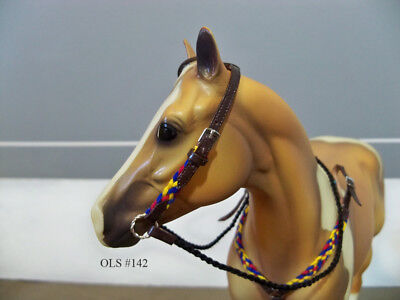 Breyer Traditional Braided Western Bridle and Collar Set - Primary Colors