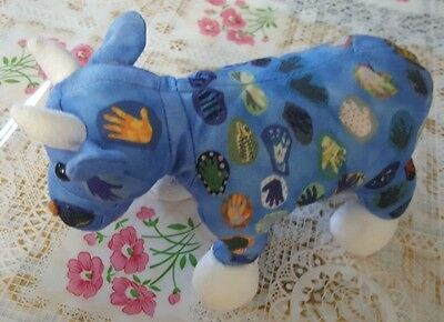 Cow Parade Collaborative Hand Quilt Plush Retired 2000 Stuffed Animal Westland