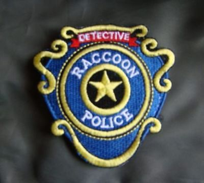 Resident Evil Raccoon Detective Embroidery Patch