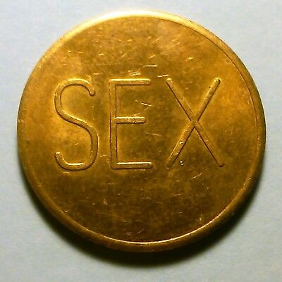 SEX No Cash Value Adult Peep show Token. Gag gift - Endless Possibilities