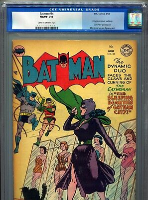 1954 Dc  Batman #84 Classic Catwoman Cover Cgc 7.0 Cr-Ow Unpressed Old Label