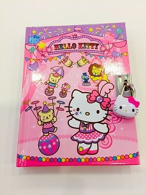 Sanrio Hello Kitty Circus Diary Book Notebook with Key Lock 288 Pages(Brand New)