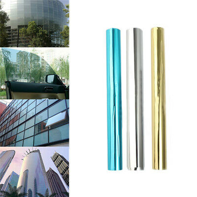 Glass Self Adhesive Film DIY Reflective Mirror Window UV Sun Protection Spy Foil
