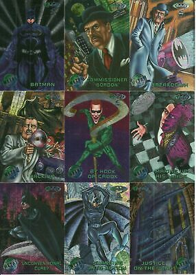 1995 Fleer Batman Forever Metal complete 100 card base set