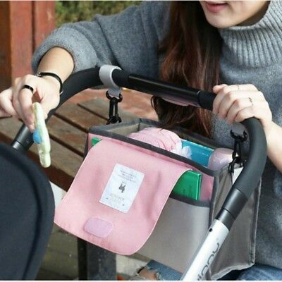 Baby Pushchair Pram Organiser Stroller Buggy Storage Bag Carabiner Bottle Holder