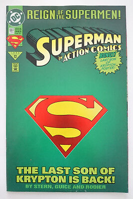 Dc   Superman Action Comics   Nr 687 (1993)   Die Cut Cover (Inkl Poster)   Z 1