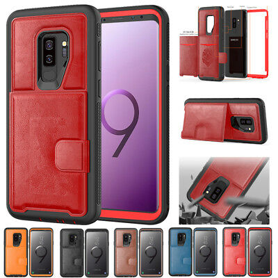360 Shockroof Leather Case for Samsung Galaxy Note 9/S9 Plus Hybrid Armor Cover