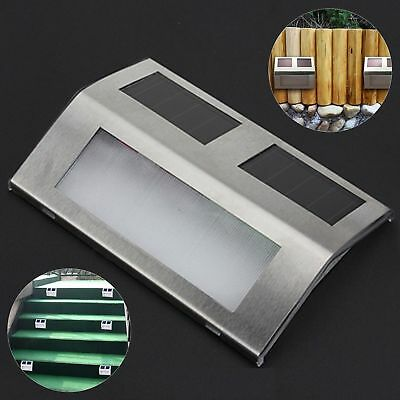Solar Powered LED Outdoor Garden Stair Light & Battery Operated Push Wall Lights