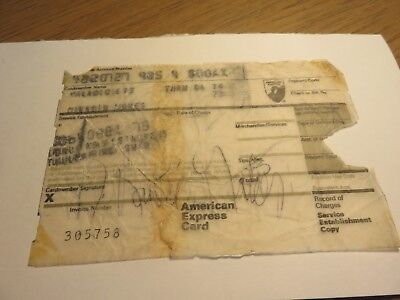 David Bowie- Signed Original 1973 American Express Credit Card Receipt Auction