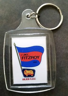 Key Ring FITZROY & GOLDEN FLEECE PROMO PETROL STATION VFL AFL THE LIONS FOOTBALL