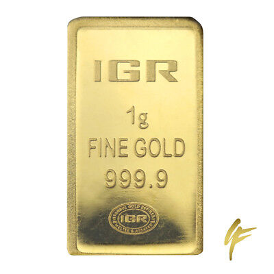 1 Gram Gold Bullion 999,9 in Blister + Certificate LBMA 1g Gold 24k Coin Gift kt