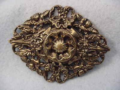 Vintage  Filigree Large Sash Pin Beautiful