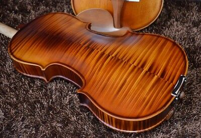 D23 Handmade 4/4 Full Size Wooden Violin Beginners Practice Musical Instrument M