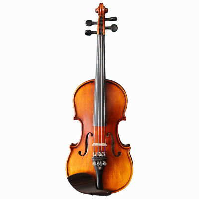 D15 Handmade 4/4 Full Size Wooden Violin Beginners Practice Musical Instrument M