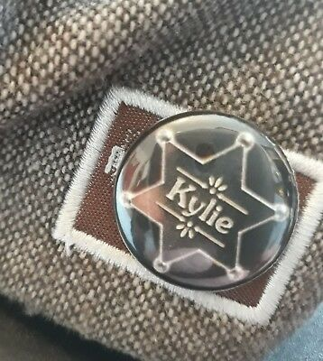 KYLIE GOLDEN BUTTON BADGE FROM THIS YEARS TOUR!!!! At NEWCASTLE METRO £1.50