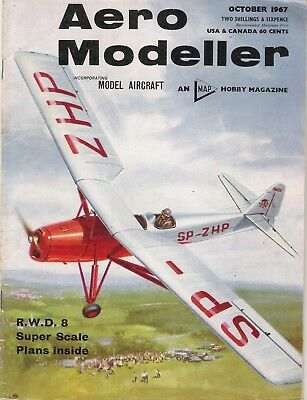 Aero Modeller Magazine. Volume XXXII, No. 381, October, 1967. RWD-8 PWS.