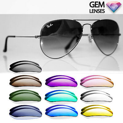 GEM Lenses for RAY-BAN RB 3025 Aviator Replacement Lenses Polarized Mirror Flash