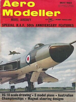 Aero Modeller Magazine. Volume XXXIII, No. 388, May, 1968. VC 10 scale drawing.