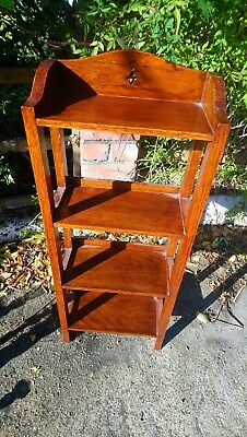 Beautiful Oak Arts And Crafts Small Bookshelf