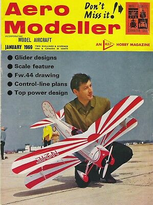 Aero Modeller Magazine. Volume XXXIV, No. 396, January, 1969. FockeWulf Fw44.