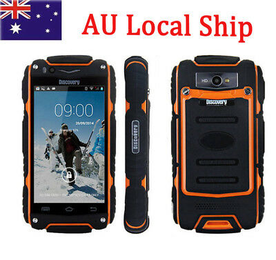 """Unlocked Android 3G Rugged Smartphone MTK6572 Dual Core 4"""" Phone Discovery V8 AU"""