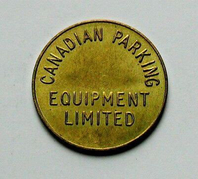 Canadian Parking Equipment Brass Token GOOD FOR PARKING ONLY - AU++ toned-lustre