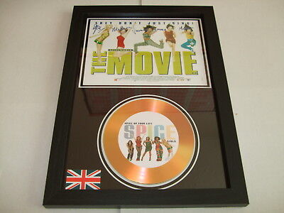 Spice Girls   Signed  Gold Cd  Disc  916