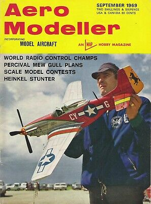 Aero Modeller Magazine. Volume XXXIV, No. 404, September, 1969. Heinkel He 100
