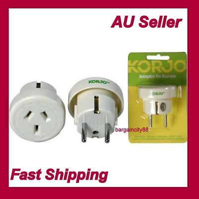 Korjo Travel Plug Adapter Adaptor Charger-For Europe From Australia &New Zealand