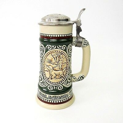 Avon Beer Stein Mug Handcrafted in Brazil Rainbow Trout English Setter Dog 1978