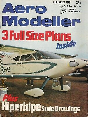 Aero Modeller Magazine. Volume XLII, No. 503, December, 1977. Hiperbipe Scale D.