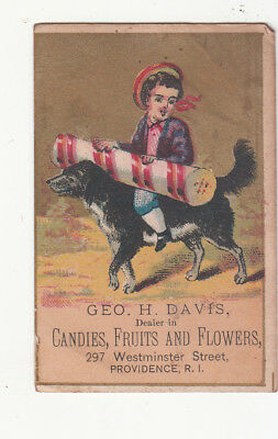 George H Davis Candies Fruits Flowers Providence Peppermint Vict Card c1880s