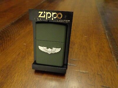 Us United States Army Wings Zippo Lighter Mint In Box 2001