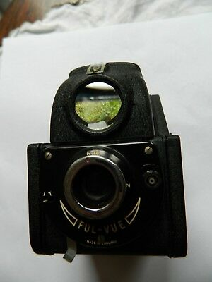 Ensign Ful-Vue  Box Camera with case.