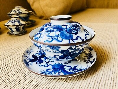 old chinese porcelain Teacup With Tray