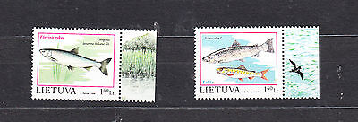 Lithuania 1998 Freshwater Fish Set Mint Never Hinged