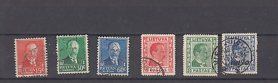 Lithuania 1934/37 President Smetona Definitives Fine Used