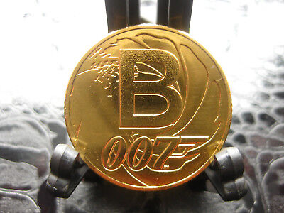 UK A-Z James Bond Letter B 24K Gold Plated Alphabet 10p Coin Pence Uncirculated