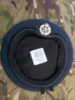 ROYAL AIR FORCE BLUE BERET, WITH QUEENS CROWN CAP BADGE - Used